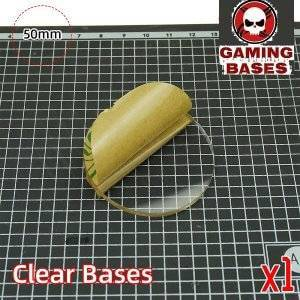 50mm Round clear bases TRANSPARENT / CLEAR BASES for Miniatures 50mm Color: 1 bases