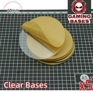 60mm TRANSPARENT / CLEAR BASES for Miniatures warhammer 40k 60mm Color: 5 bases