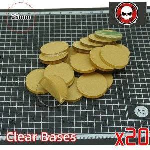 25mm Round clear bases TRANSPARENT-CLEAR BASES for Miniatures 25 mm color: 10 bases|20 bases|30 bases|40 bases|5 bases|50 bases