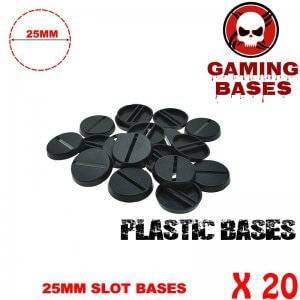 20pcs Round slot bases 25mm for gaming miniatures and table games 25 mm Brand Name: GamingBases