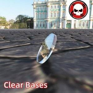 40mm Round clear bases TRANSPARENT / CLEAR BASES for Miniatures 40mm Color: 50 bases