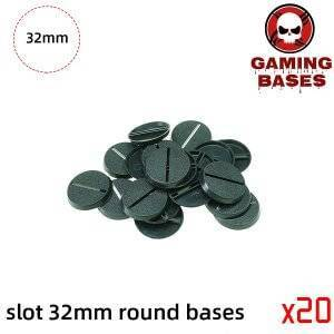 32mm Round Slot bases for gaming miniatures and table games 32mm Color: 20
