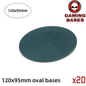 120 x 95mm oval base Model Plastic Bases for wargames 120x95mm Color: 20