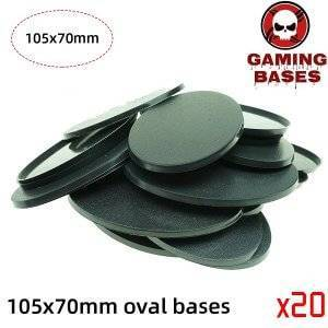 wargame gamingbases -105 x 70mm oval bases for Warhammer 40k 105x70mm Color: 20