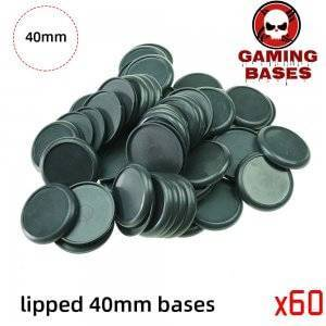 40mm Plastic lipped bases table games model bases 40mm Color: 60