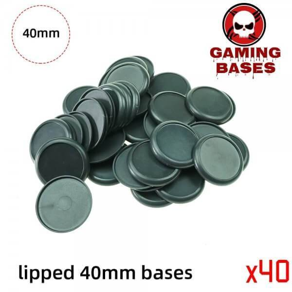 40mm Plastic lipped bases table games model bases 40mm Color: 40