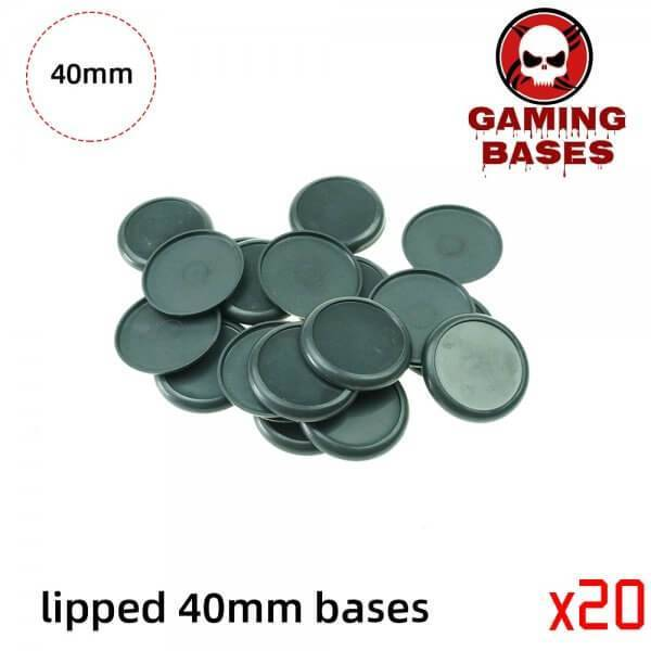 40mm Plastic lipped bases table games model bases 40mm Color: 20