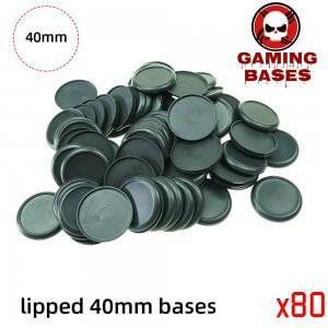 40mm Plastic lipped bases table games model bases 40mm Color: 80