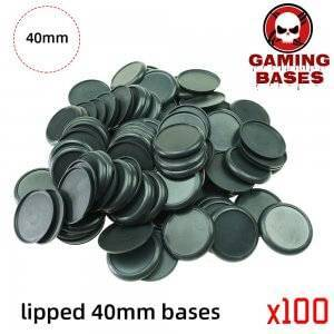 40mm Plastic lipped bases table games model bases 40mm Color: 100