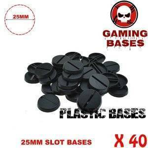40pcs Round slot bases 25mm for gaming miniatures and table games 25 mm Brand Name: GamingBases