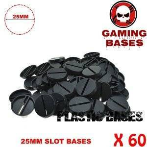 60pcs Round slot bases 25mm for gaming miniatures and table games 25 mm Brand Name: GamingBases