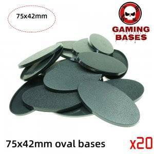 75x42mm Oval Bases For Miniature Wargames Table bases Warhammer 75x42mm color: 1|10|20|5