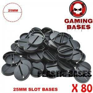 80pcs Round slot bases 25mm for gaming miniatures and table games 25 mm Brand Name: GamingBases