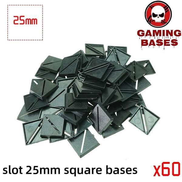 Slot bases 25mm square base 25mm Color: 60