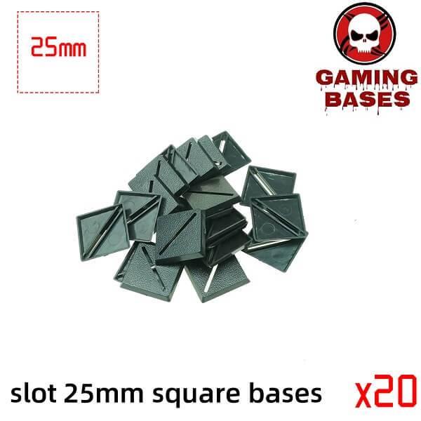 Slot bases 25mm square base 25mm Color: 20