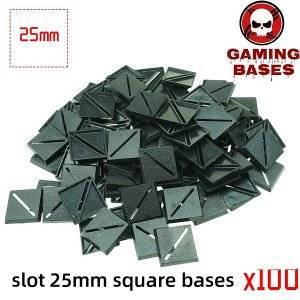 Slot bases 25mm square base 25mm Color: 100