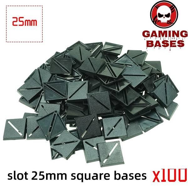 Slot bases 25mm square base 25mm Color: 100