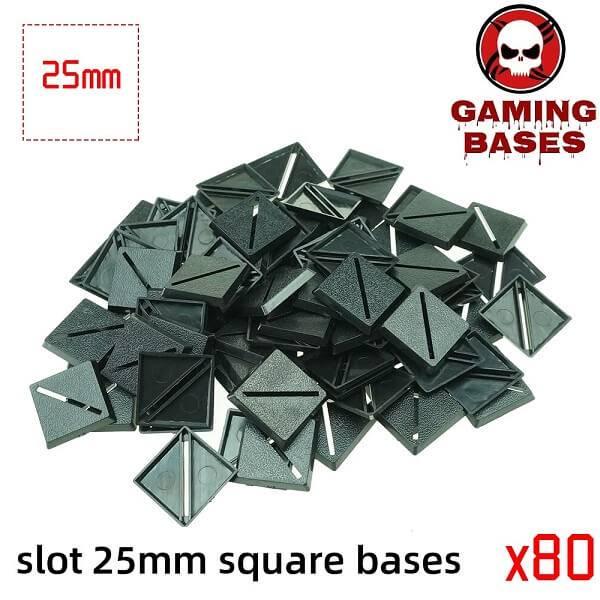 Slot bases 25mm square base 25mm Color: 80