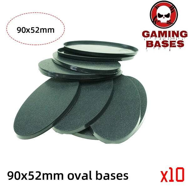 wargame gamingbases -90 x 52mm oval bases for Warhammer 90x52mm color: 1|10|20|5