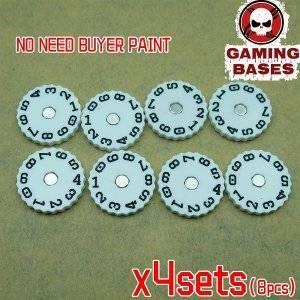 GamingBases World 20mm-00-99 Color: White