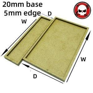 Gaming Base wargame Movement Tray 20mm bases with 5mm edge Square 20mm color: othersize|W3D1|W3D2|W3D3|W4D1|W4D2|W4D3|W4D4|W5D1|W5D2|W5D3|W5D4|W5D5|W6D1|W6D2|W6D3|W6D4|W6D5|W6D6|W7D1|W7D2|W7D3|W7D4|W7D5|W7D6|W7D7|W8D1