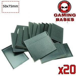 Gamingbase world -50 x 75 mm rectangle bases for Warhammer RPG 75X50MM Color: 20