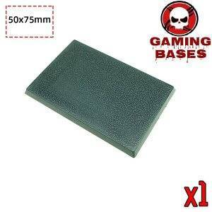 Gamingbase world -50 x 75 mm rectangle bases for Warhammer RPG 75X50MM Color: 1