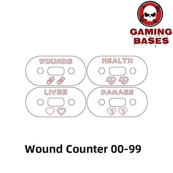 Gamingbase World – Wound Counter/Tracker/Dial/Marker 00-99- 4sets 20mm-00-99 color: Black|DarkBlue|fluoDarkorange|fluoGreen|fluoOrange|fluoRed|fluoYellow|FruitGreen|Green|Grey|LightBlue|RandomColor|Red|TransparentDarkBlue|TransparentGlass|TransparentGreen|TransparentGrey|TransparentLakeBlue|TransparentLightBlue|TransparentOrange|TransparentPuple|TransparentRed|TransparentYellow|TranspMoreLightBlue|Yellow
